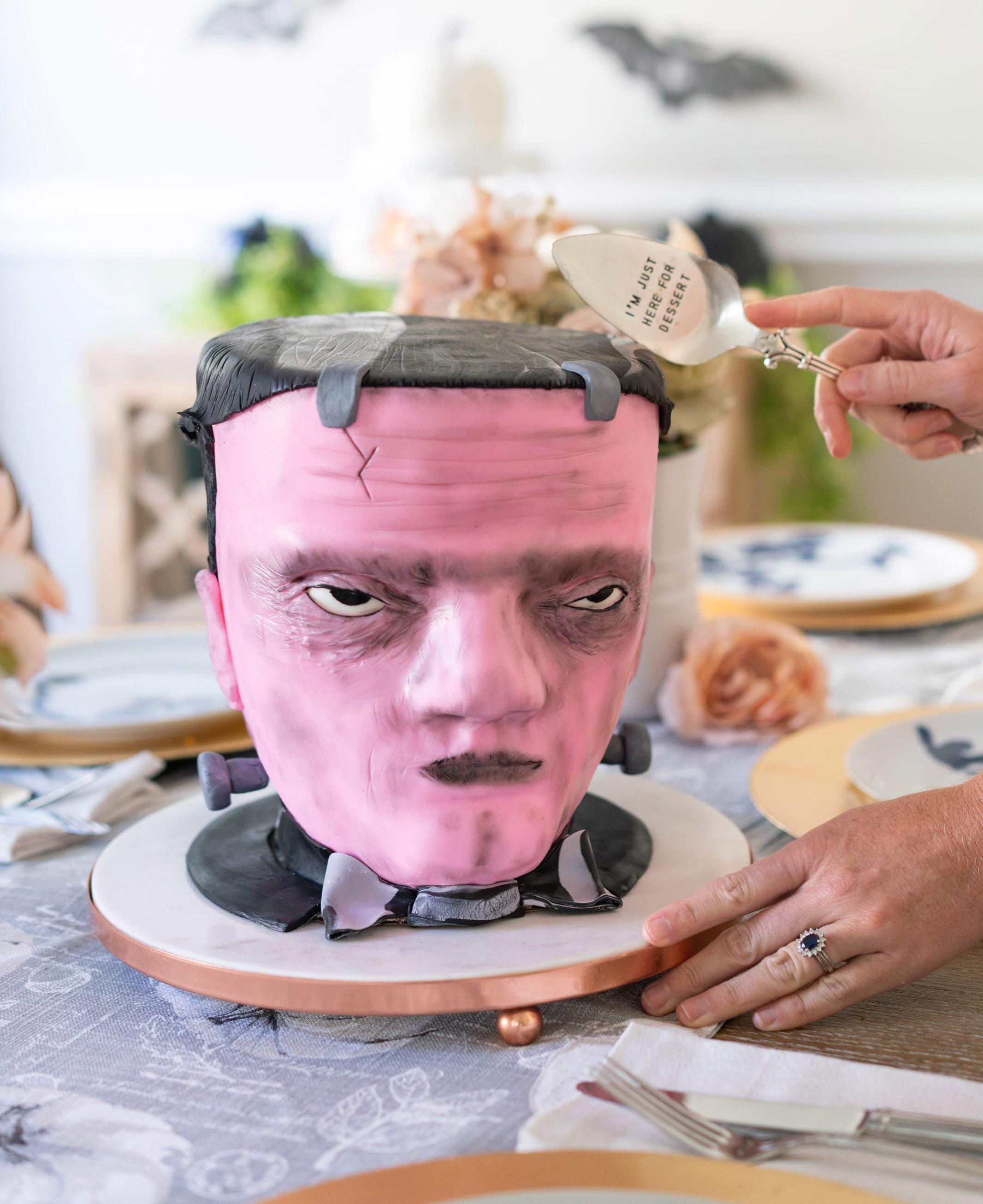 Pink Monster Cake
