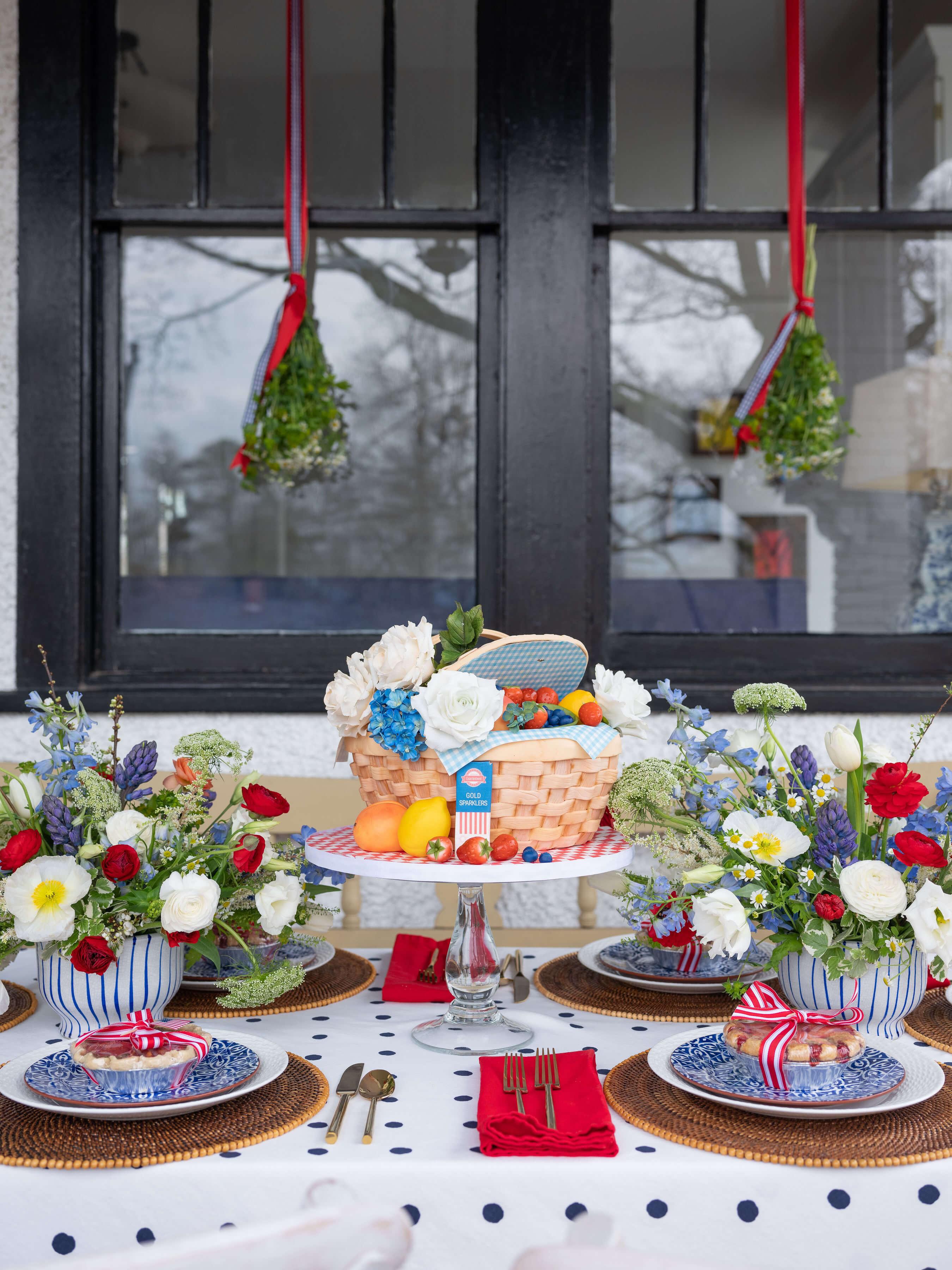 Patriotic Porch Party Tablescape for Entertain & Celebrate Magazine