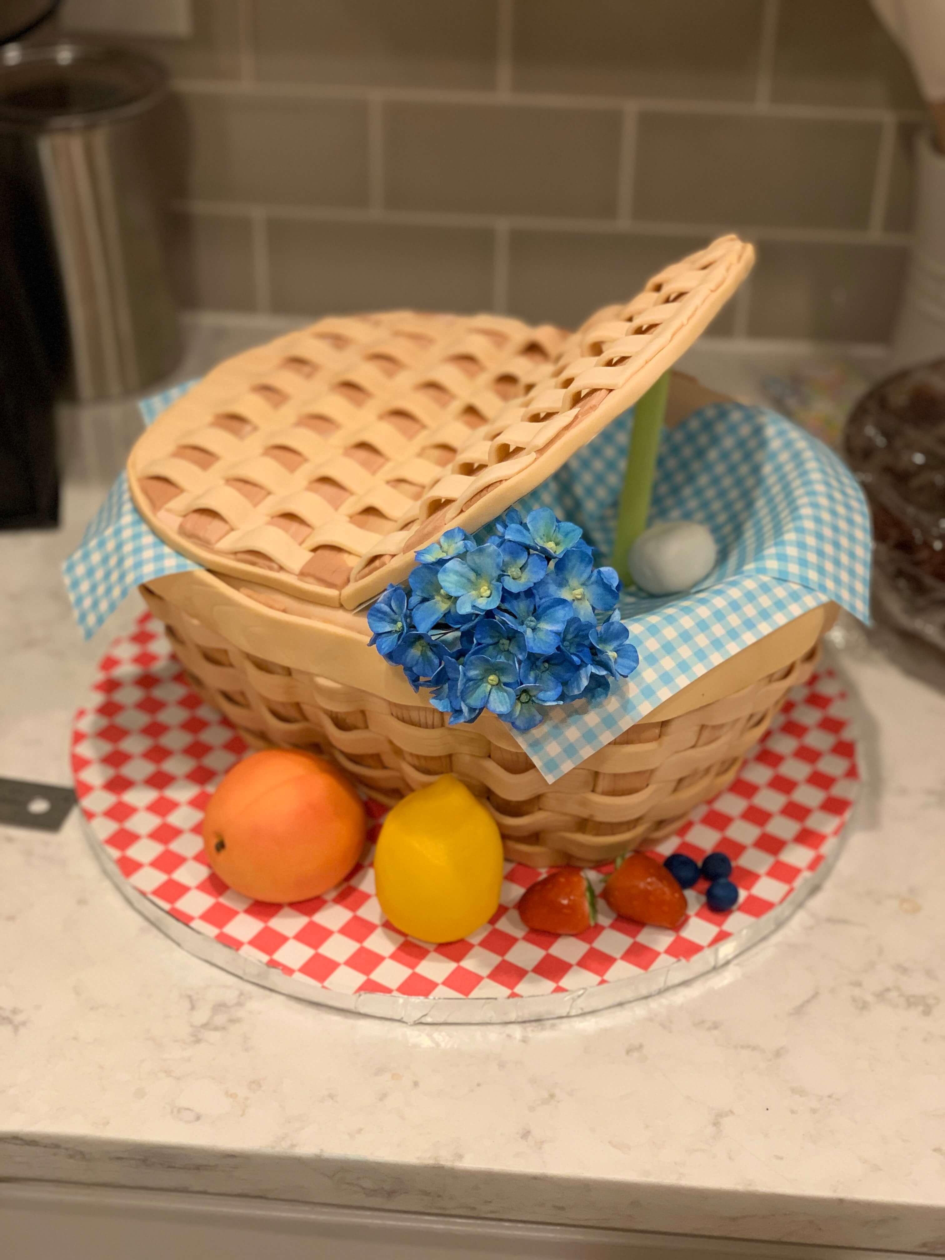 Picnic Basket Cake Setup Julie McAllister For Heaven Bakes