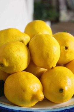 Lemon Cakes Closeup