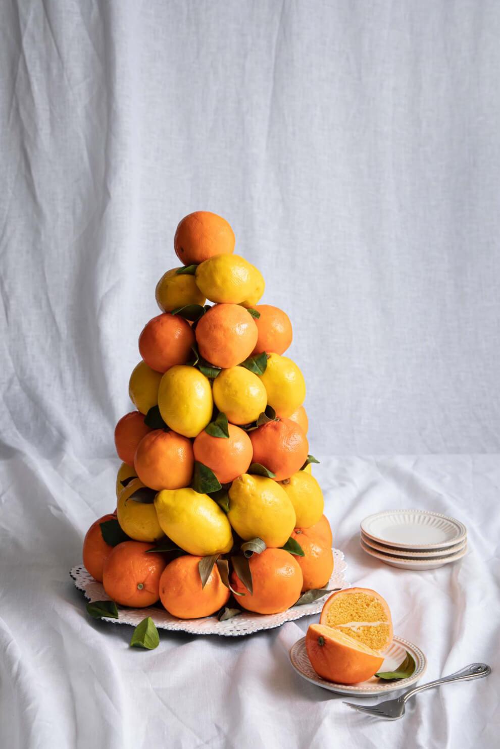 Citrus Tree Cake Lemon Cake Orange Cake