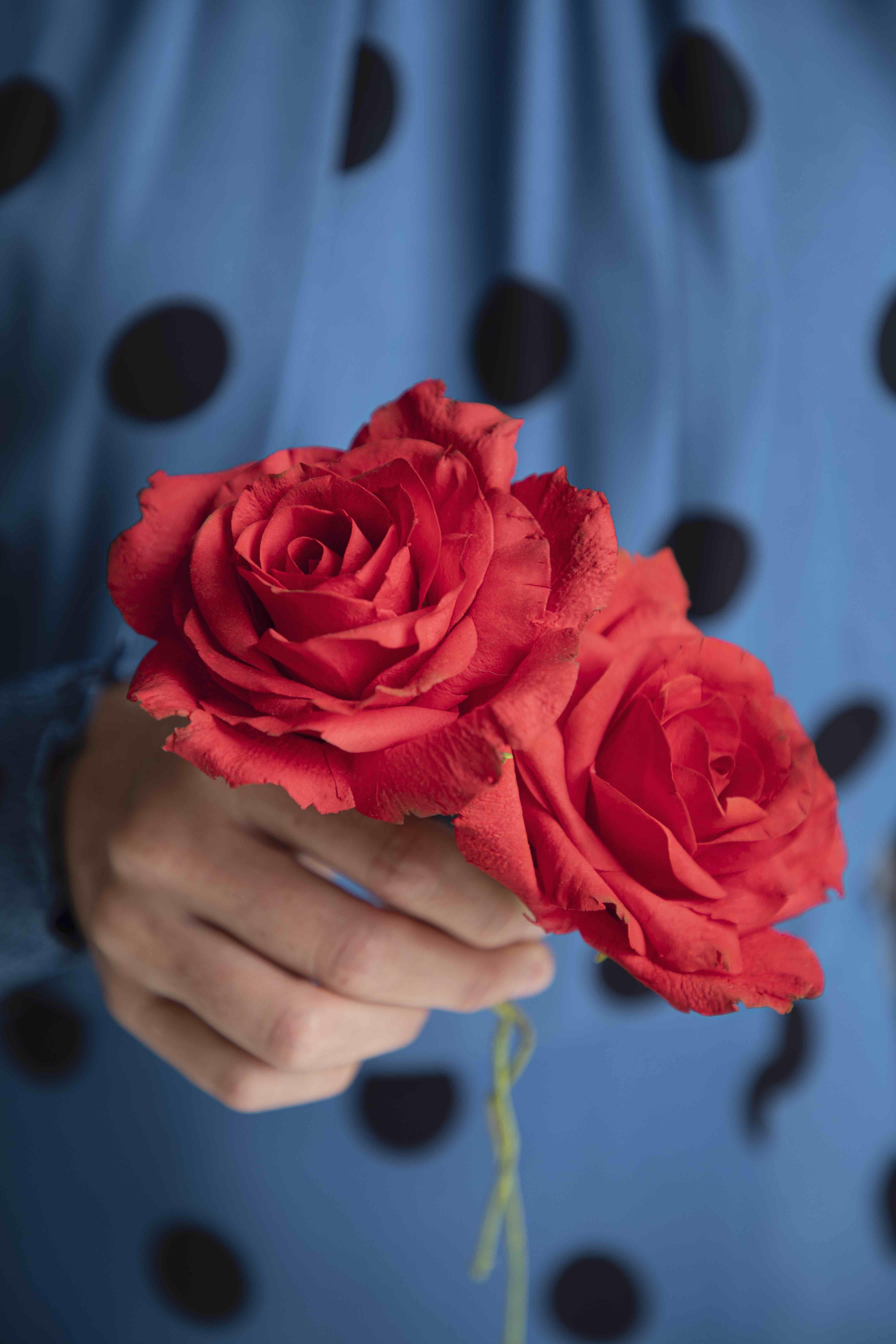 red sugar roses